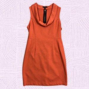 Banana Republic Cowl Neck Sheath Dress Rust Orange